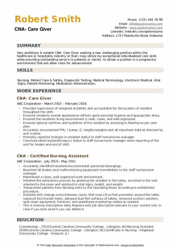 cna resume samples qwikresume nursing assistant skills pdf best sentences esthetician Resume Nursing Assistant Resume Skills