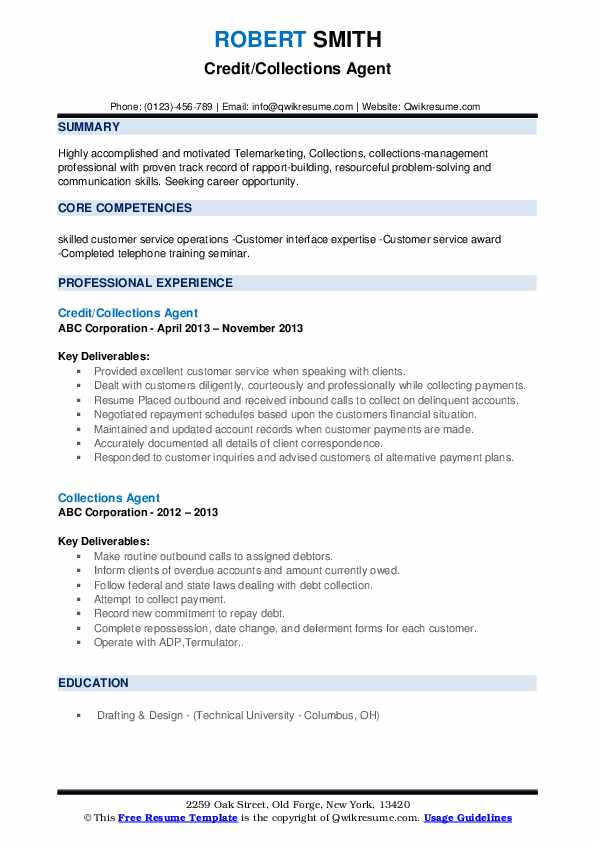 collections agent resume samples qwikresume collection format pdf communication skills Resume Collection Resume Format