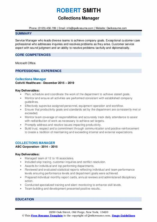 collections manager resume samples qwikresume collection profile pdf journeyman on the go Resume Collection Profile Resume