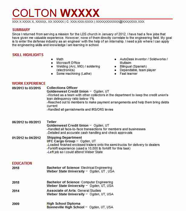 collections officer resume example resumes livecareer collection format medical physicist Resume Collection Resume Format