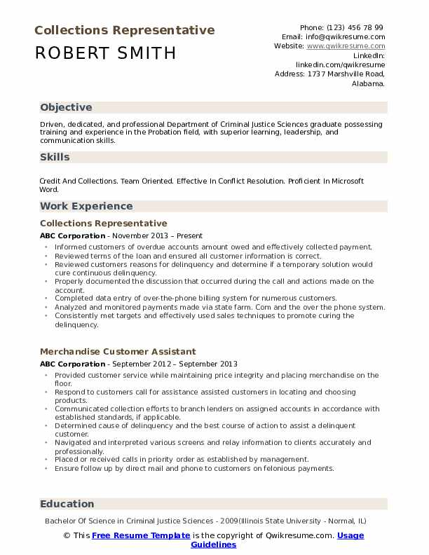 collections representative resume samples qwikresume collection profile pdf everest Resume Collection Profile Resume