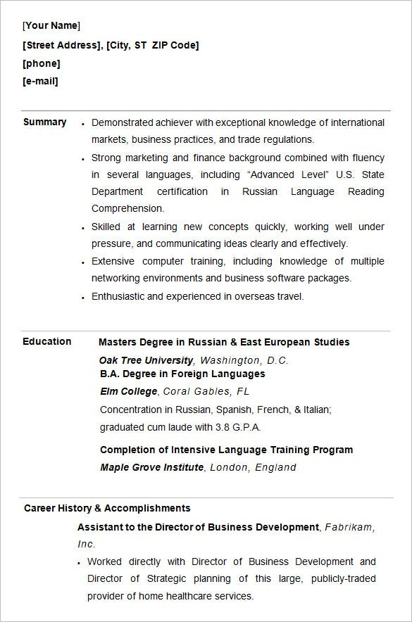 college resume template sample examples free premium templates summary for students Resume Resume Summary Examples For College Students