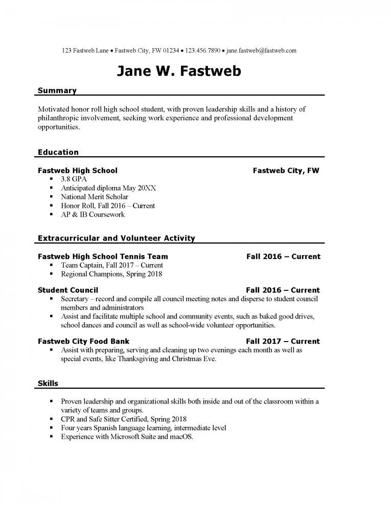 college student job resume template section for students part time cover examples Resume Resume For Part Time Job College Student