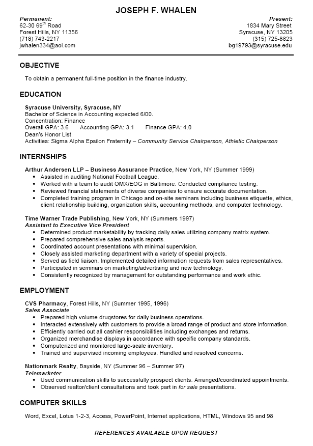 college student resume summary examples for students best sample asafonggecco in software Resume Resume Summary Examples For College Students
