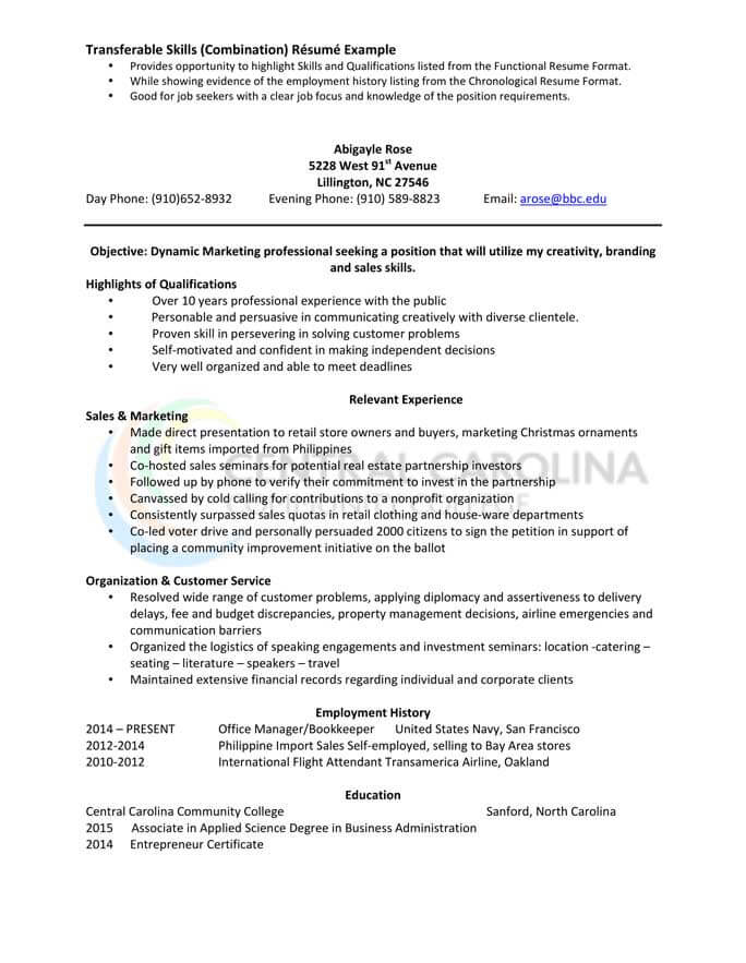 combination resume format templates tips hloom functional mdaa and marketing construction Resume Combination Functional Resume