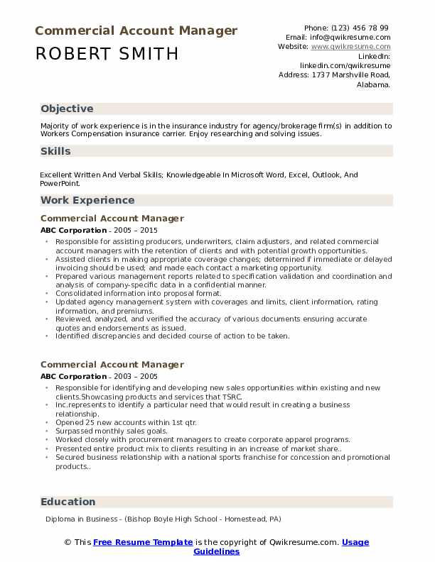 commercial account manager resume samples qwikresume sample pdf entry level fitness Resume Account Manager Resume Sample
