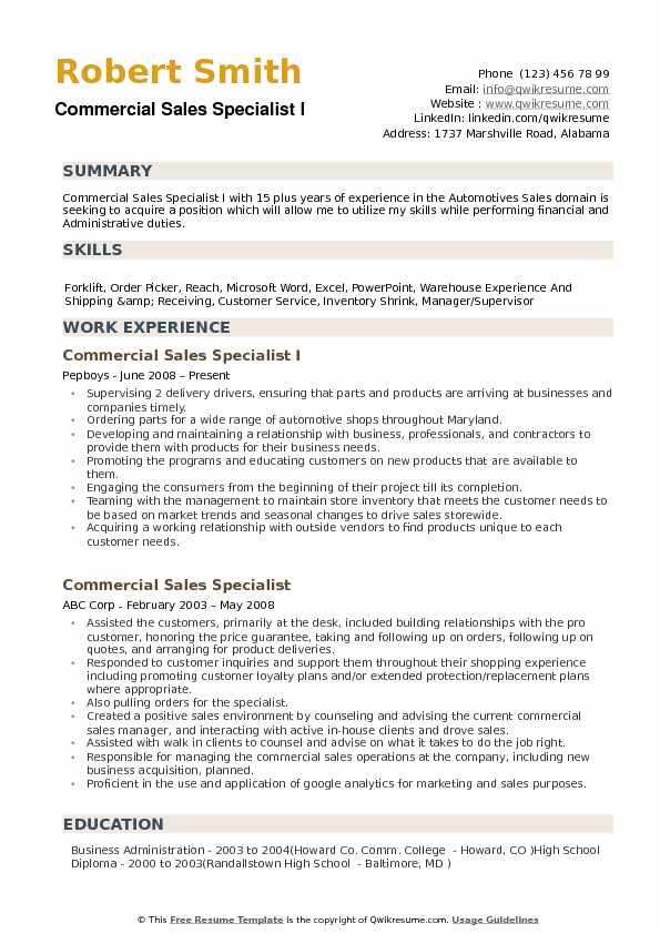 commercial specialist resume samples qwikresume job description for pdf skills you can Resume Lowes Job Description For Resume