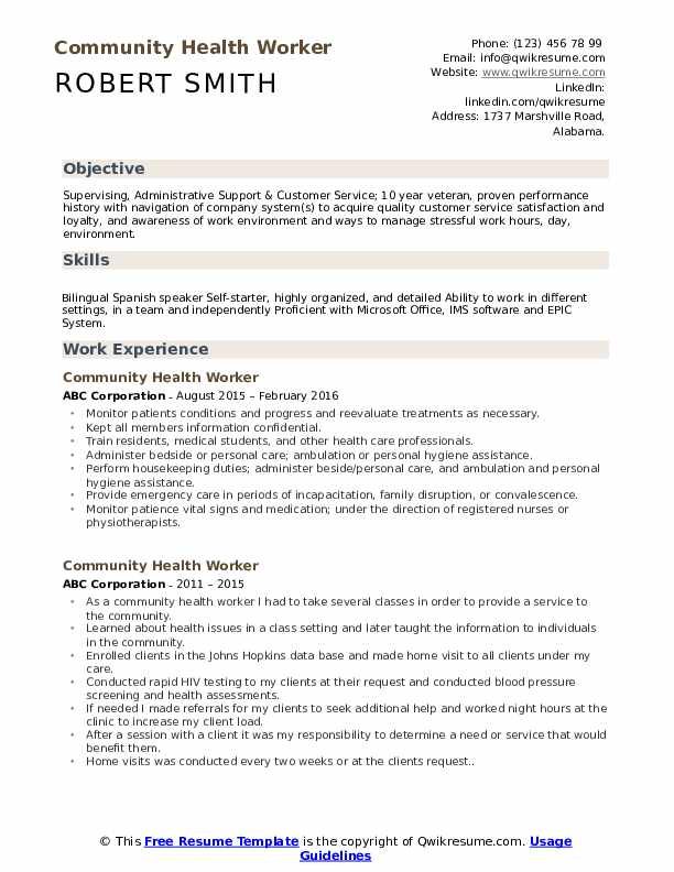 community health worker resume samples qwikresume healthcare professional template pdf Resume Healthcare Professional Resume Template
