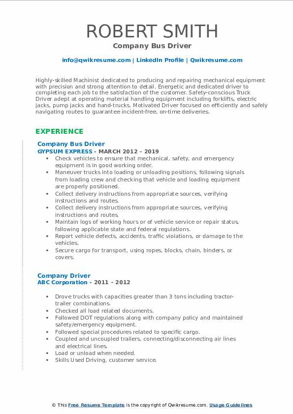 company driver resume samples qwikresume for job pdf cath lab technician format oral Resume Resume For Driver Job