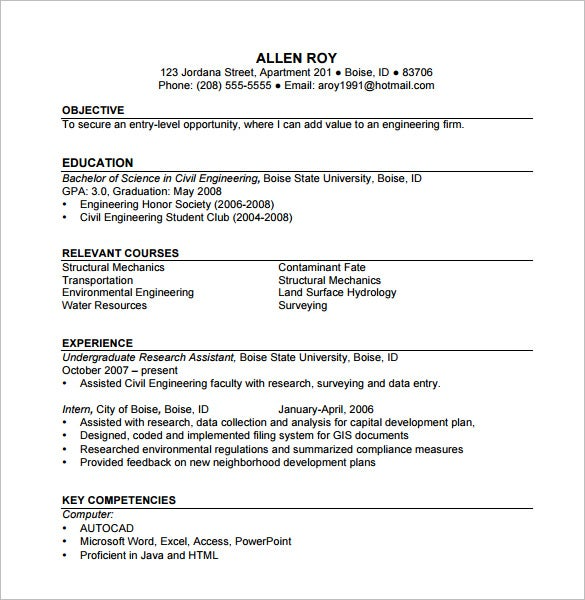 construction resume template free word excel pdf format premium templates for microsoft Resume Construction Resume Templates For Microsoft Word