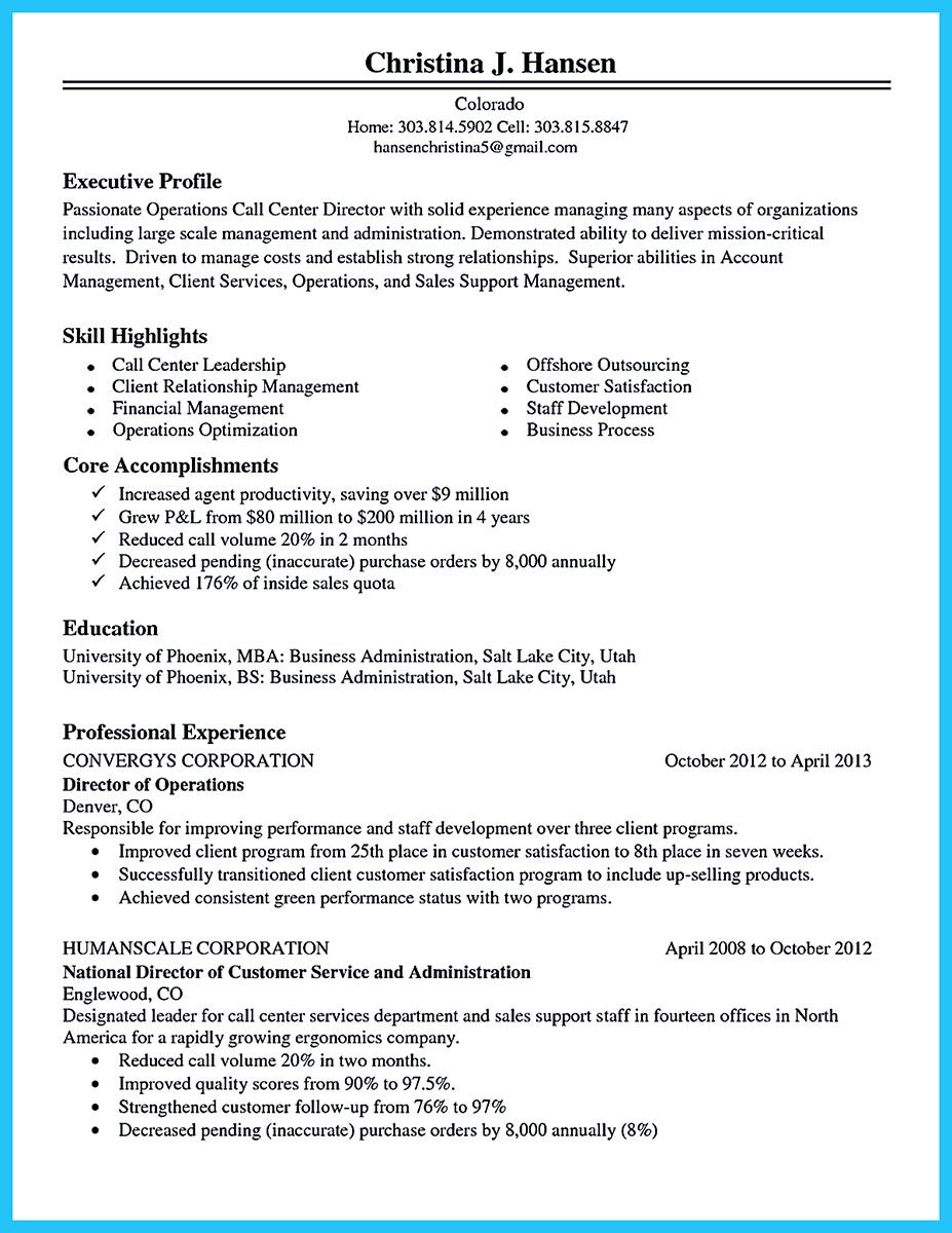 cool information and facts for your best call center resume sample good objective Resume Call Center Experience Resume