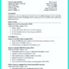 Resume With No Work Experience College Student Template