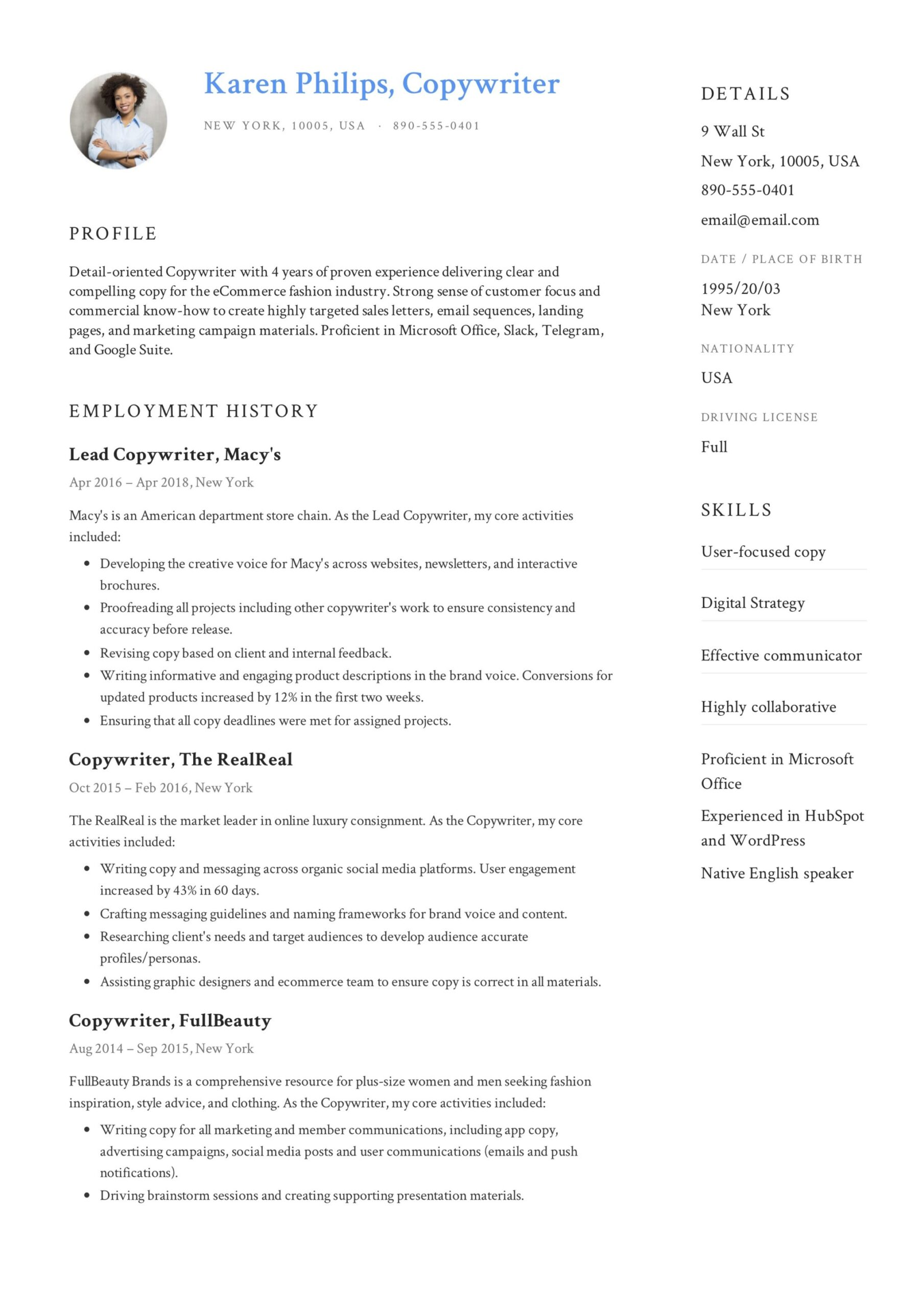 copywriter resume writing guide templates pdf creative example image hd different skills Resume Creative Copywriter Resume Templates