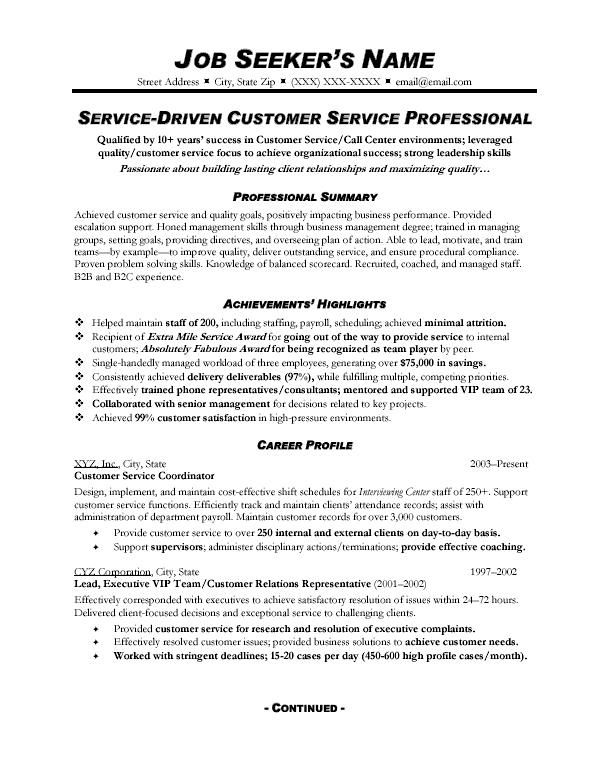 corporate customer service resume google search skills summary examples profile create Resume Resume Profile Examples Customer Service