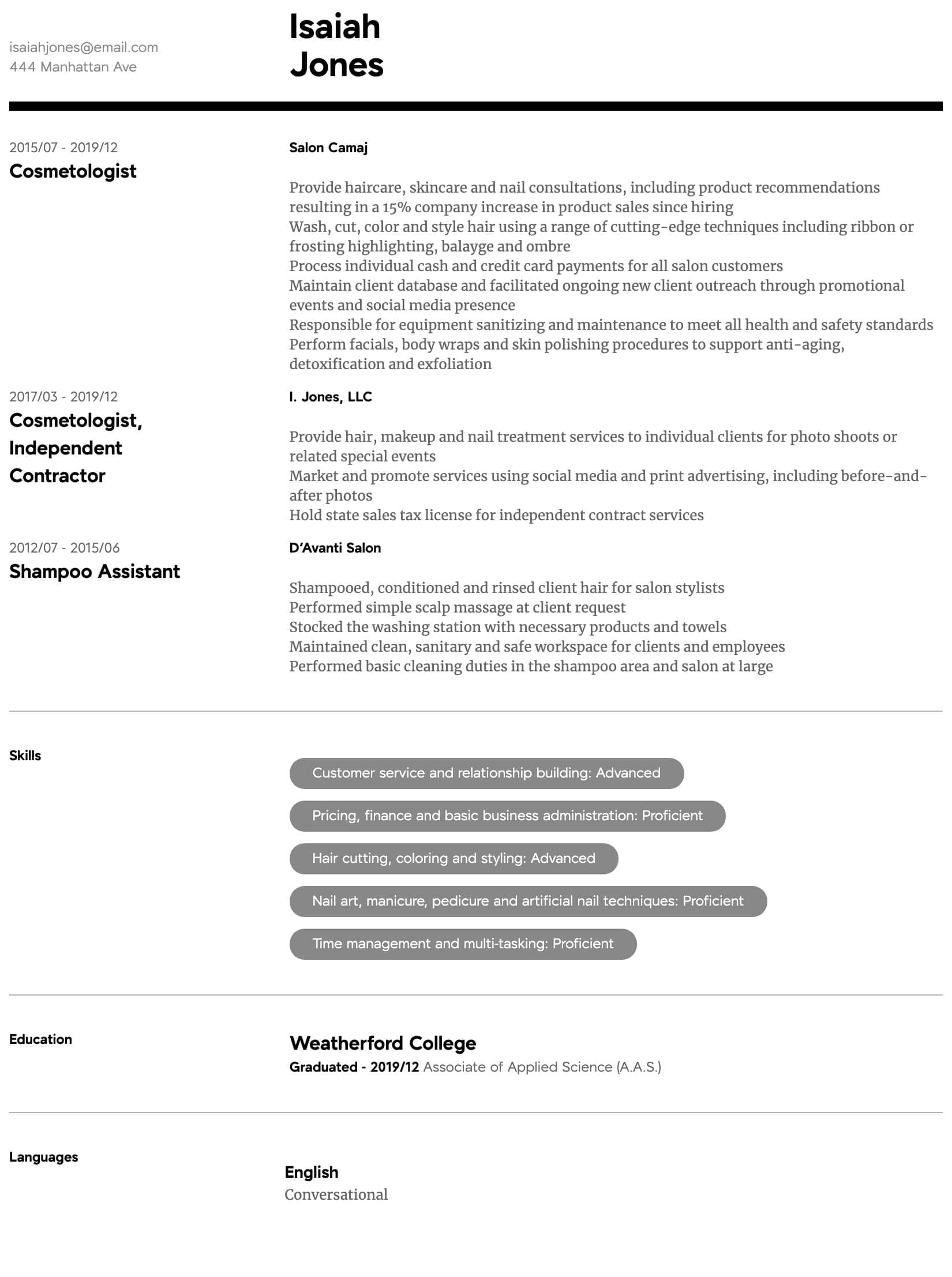 cosmetologist resume line 17qq cosmetology student examples hdfdobgfz front office Resume Cosmetology Student Resume Examples