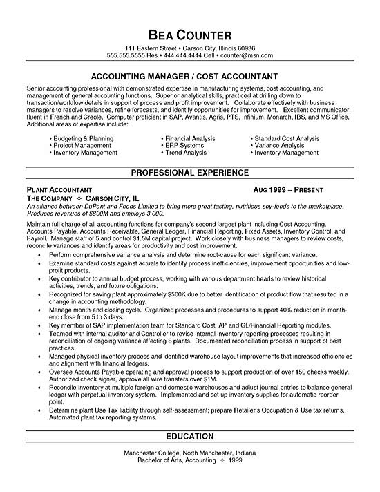 cost accountant resume example headline for finance sample finance10 computer science Resume Resume Headline For Finance