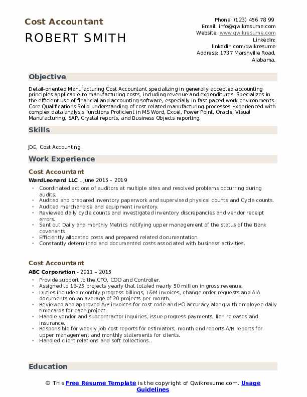 cost accountant resume samples qwikresume areas of expertise for pdf finance skills on Resume Areas Of Expertise For Accountant Resume