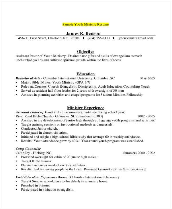 counselor resume templates pdf free premium for summer job should include references Resume Resume For Summer Camp Job