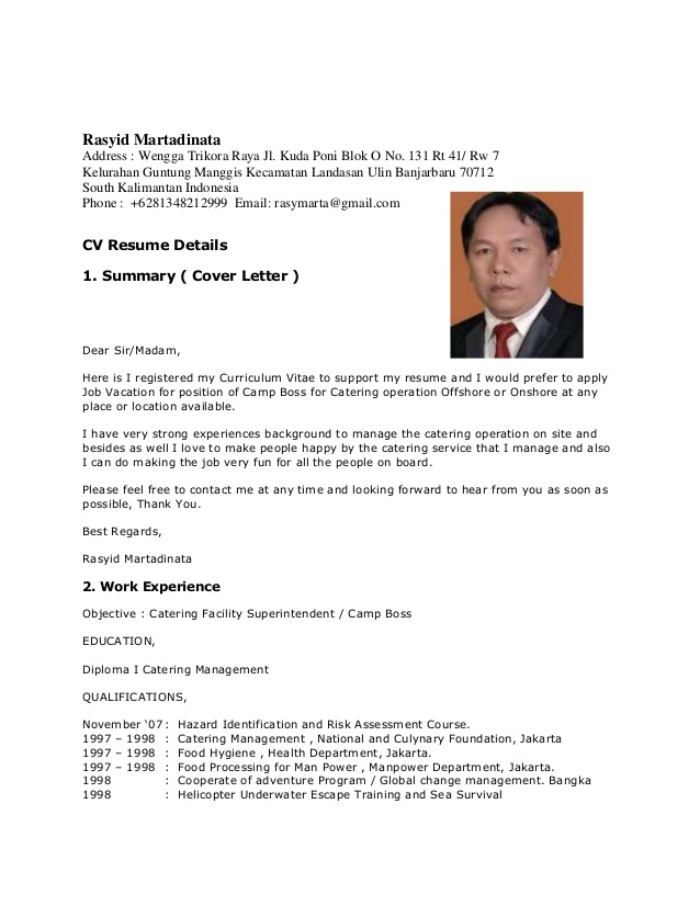 cover letter boss for sorong pdf catering resume idq informatica workshop graphic Resume Catering Camp Boss Resume