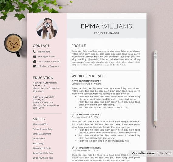 creative resume template cv word etsy eye catching il 570xn l87x duplicity general Resume Eye Catching Resume 2020