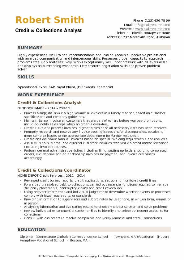 credit collections analyst resume samples qwikresume collection format pdf civil Resume Collection Resume Format