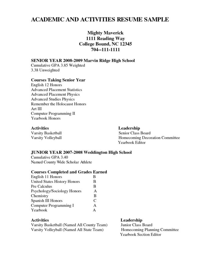 creditcards1 net resources and information high school resume template college sample Resume High School Resume Examples For College