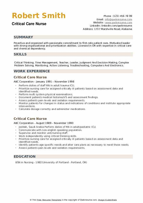 critical care nurse resume samples qwikresume sample icu pdf action verbs for executive Resume Sample Icu Nurse Resume