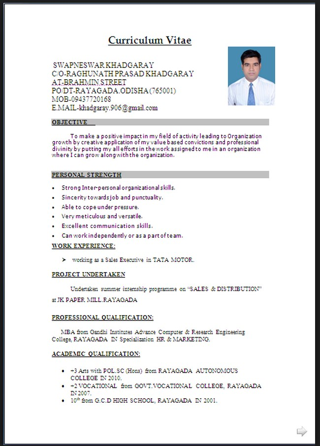 curriculum vita cv format pdf or word best resume examples structure for freshers cover Resume Resume Format Pdf Or Word