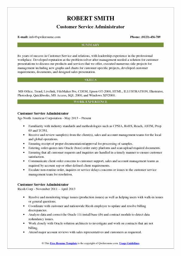 customer service administrator resume samples qwikresume summary pdf new rn leasing Resume Customer Service Resume Summary