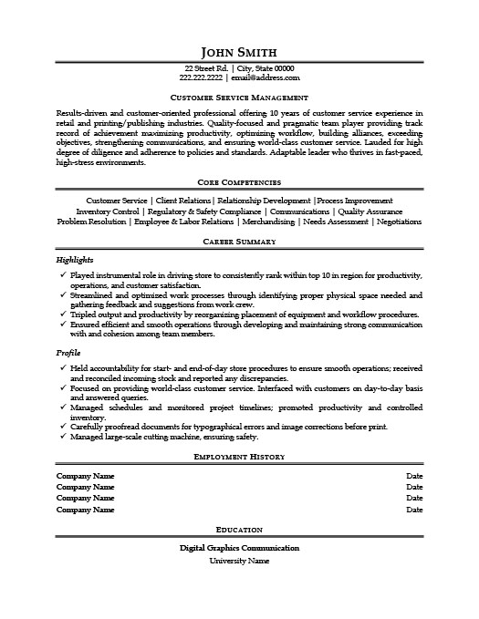 customer service manager resume template premium samples example cna with little Resume Customer Service Manager Resume