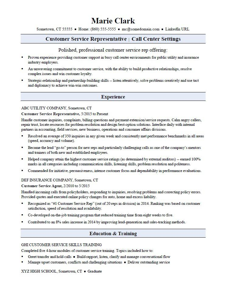 customer service representative resume sample monster words for rep help skills matching Resume Resume Words For Customer Service