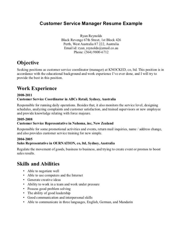 customer service resume examples template format objective statement assistant golf entry Resume Customer Service Experience Resume Objective