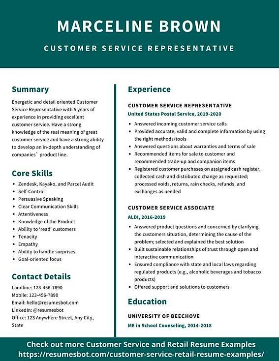 customer service resume samples and tips pdf resumes bot best examples example volunteer Resume Best Customer Service Resume Examples