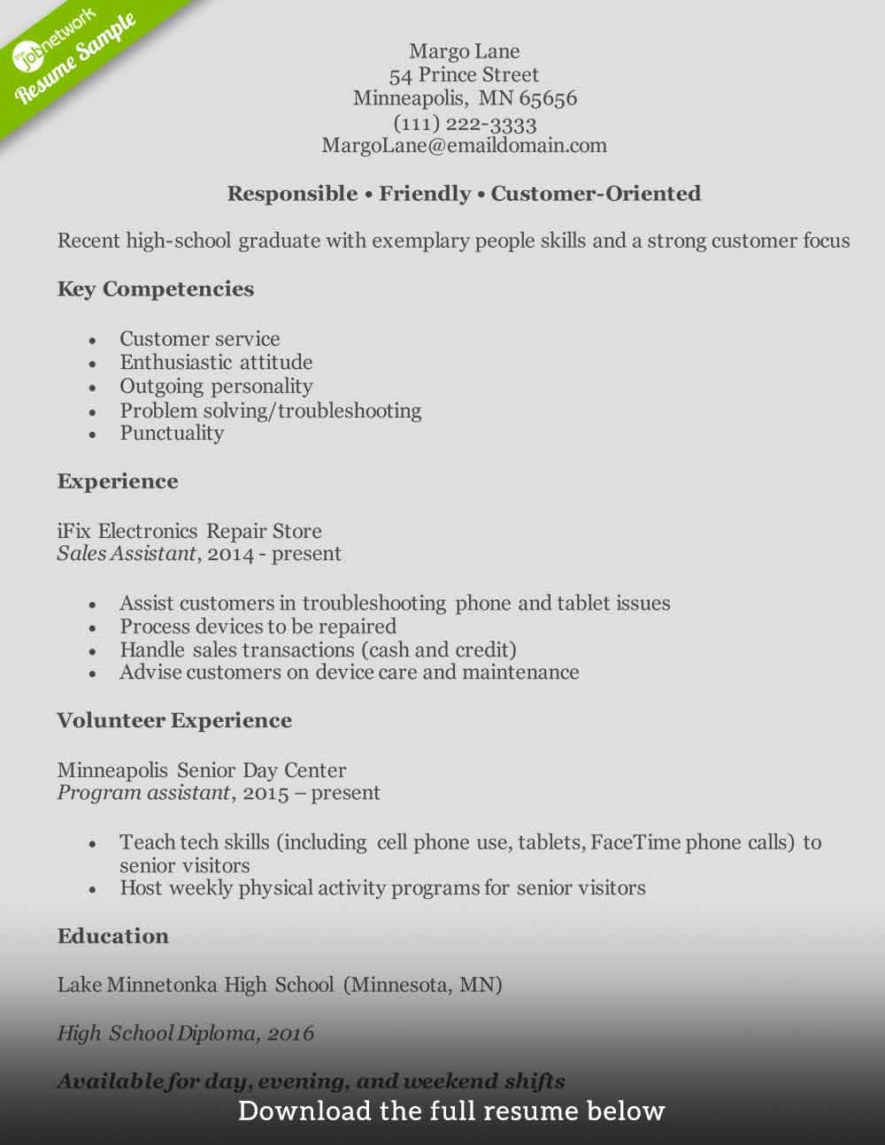 customer service resume to write the perfect one examples format for entry level1 example Resume Resume Format For Customer Service