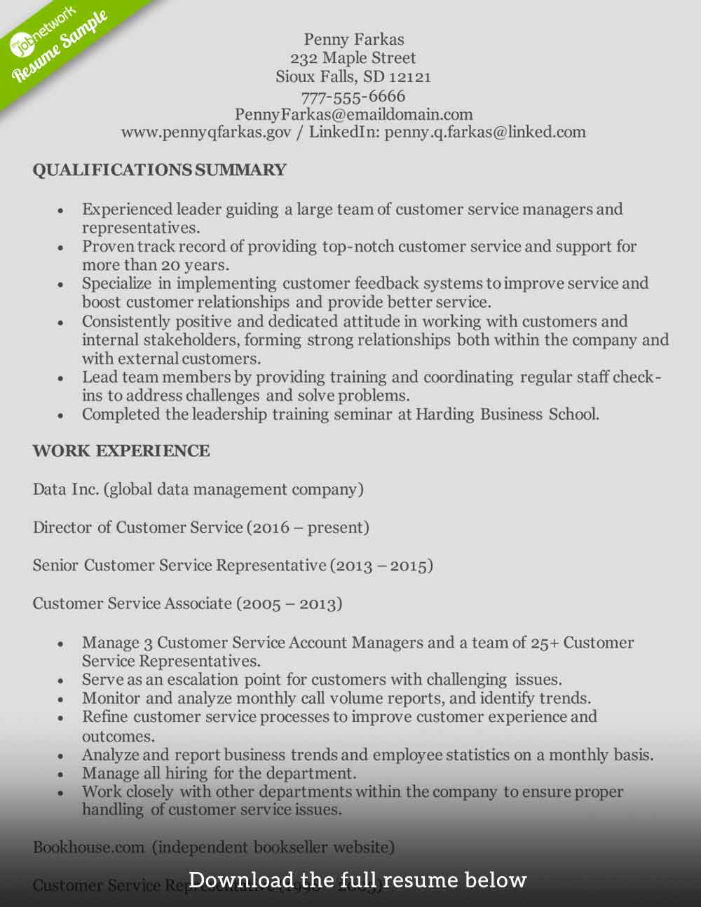 customer service resume to write the perfect one examples summary experienced month end Resume Customer Service Resume Summary