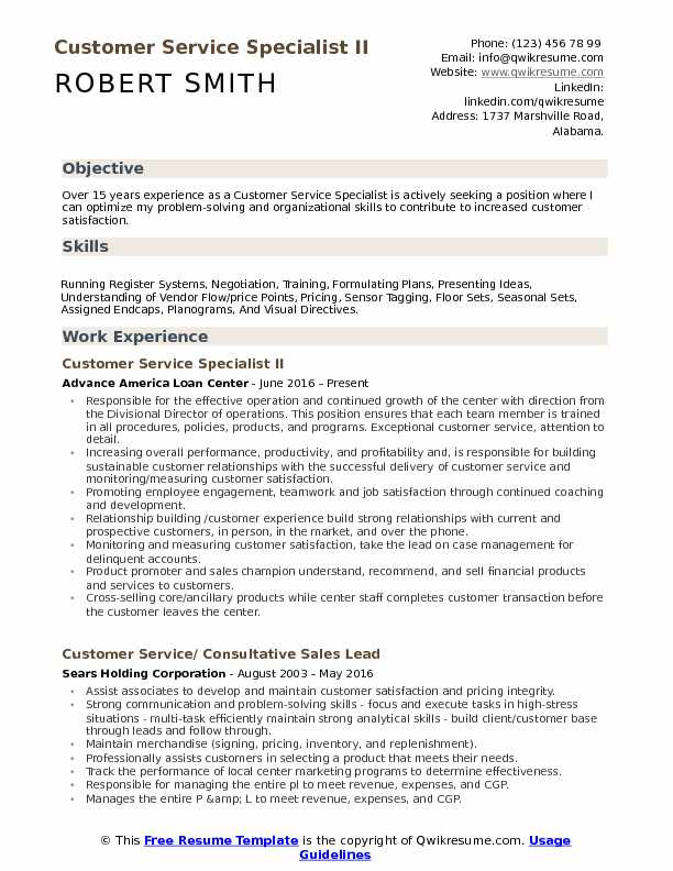 customer service specialist resume samples qwikresume sample pdf writing for high Resume Customer Service Resume Sample