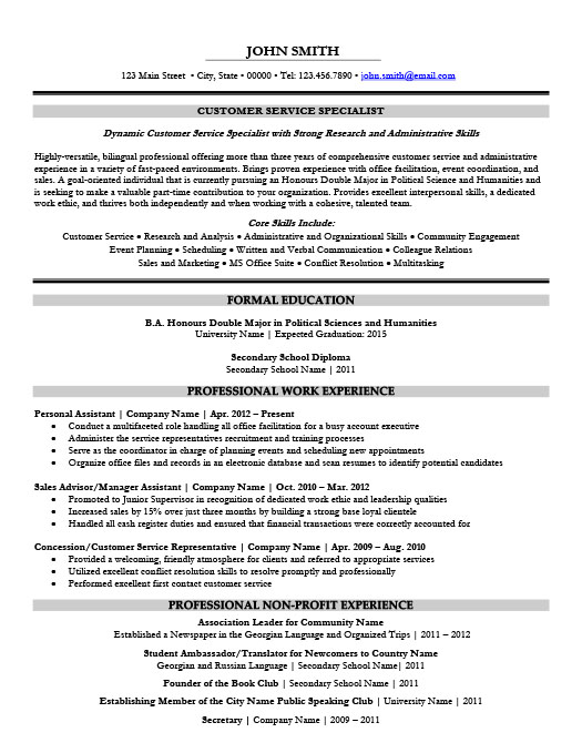 customer service specialist resume template premium samples example fashion industry Resume Customer Service Specialist Resume
