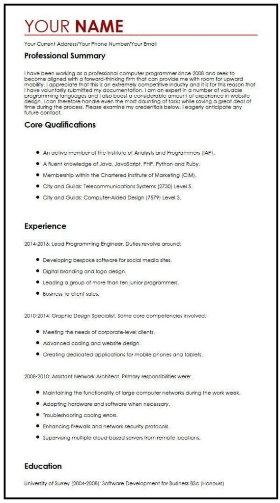 cv example for summer job myperfectcv work experience template resume examples ideas Resume Experience Description Resume Examples