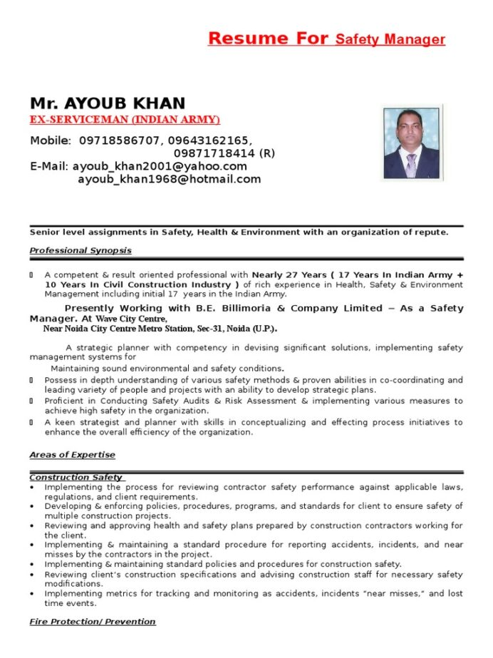 cv safety competence human resources resume for ex servicemen indian army job templates Resume Resume For Ex Servicemen Indian Army