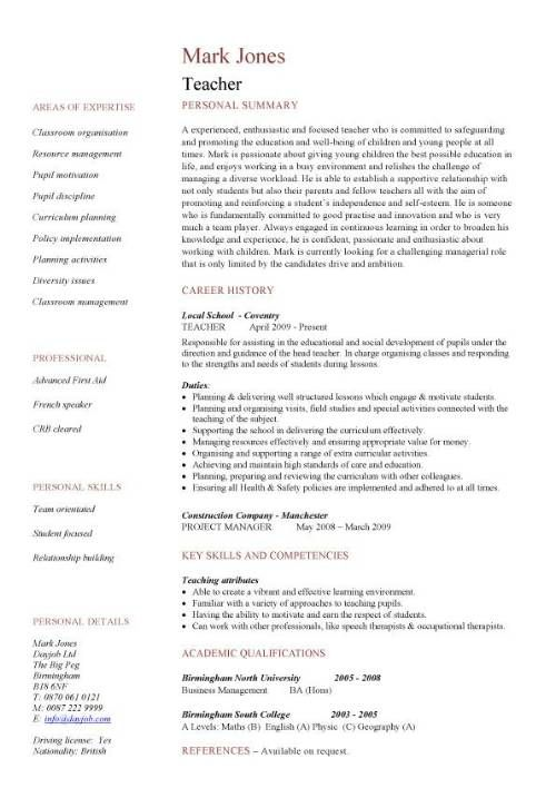 cv template education teaching resume examples teacher description for on data entry Resume Teacher Job Description For Resume