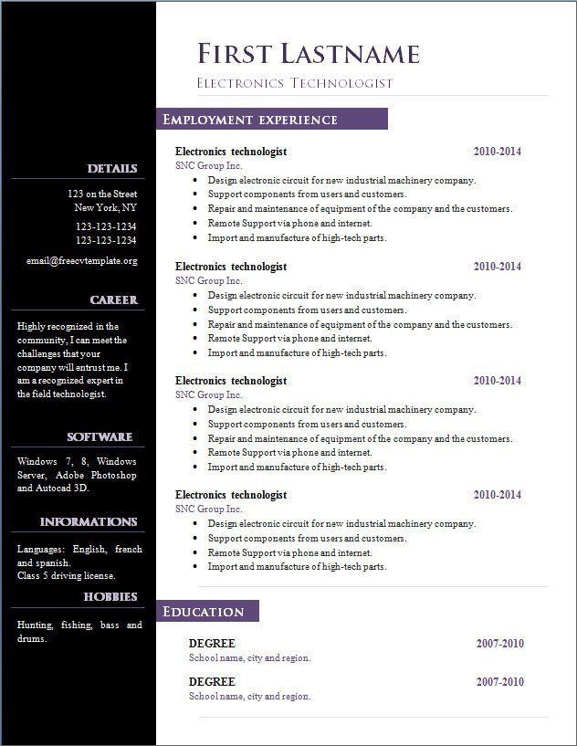 cv template open office free microsoft word resume import to for interview civil Resume Import Resume To Template