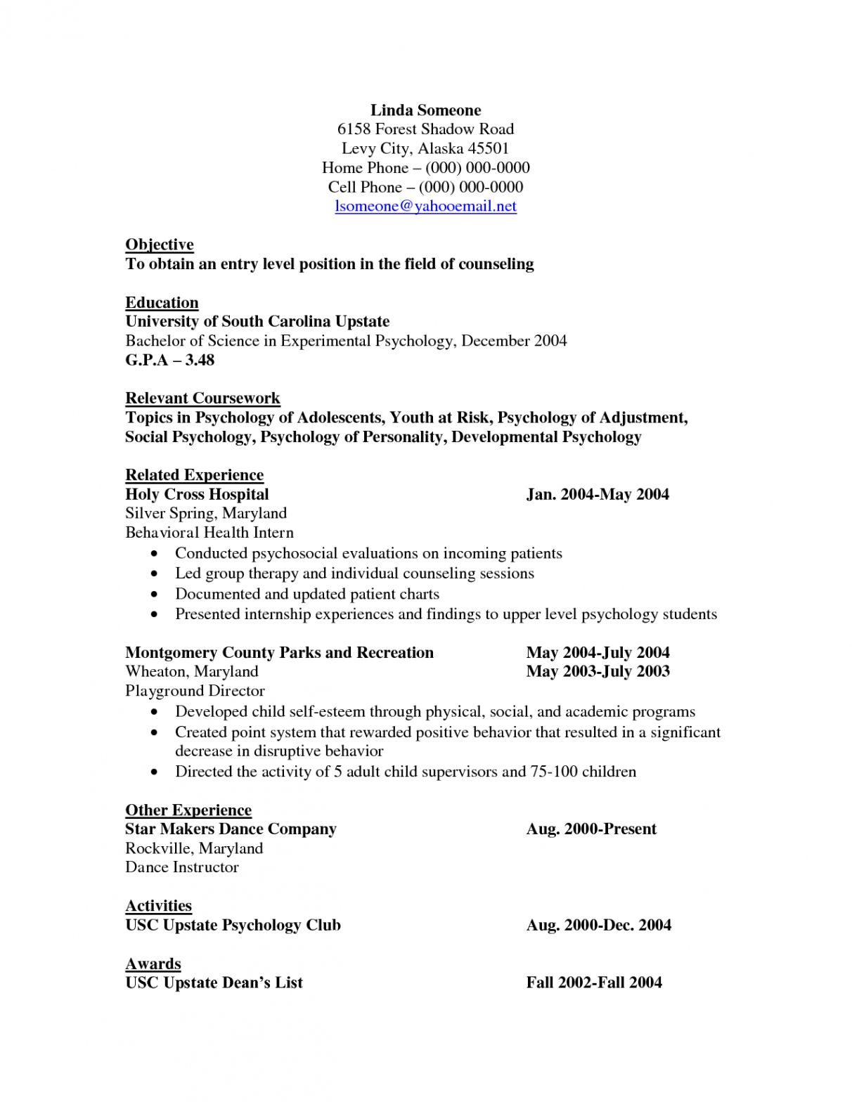 cv template psychology experimental resume examples entry level leasing consultant sample Resume Psychology Resume Sample