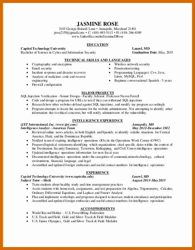 cyber security resume example inspirational analyst examples objective junior of skills Resume Junior Security Analyst Resume