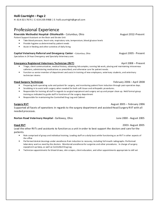 cyber security resume year experience nurse for surgical technologist student home health Resume Free Surgical Technologist Resume Templates