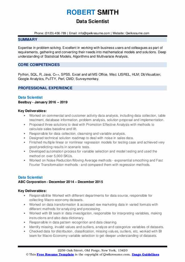 data scientist resume samples qwikresume format for msc statistics freshers pdf le petit Resume Resume Format For Msc Statistics Freshers
