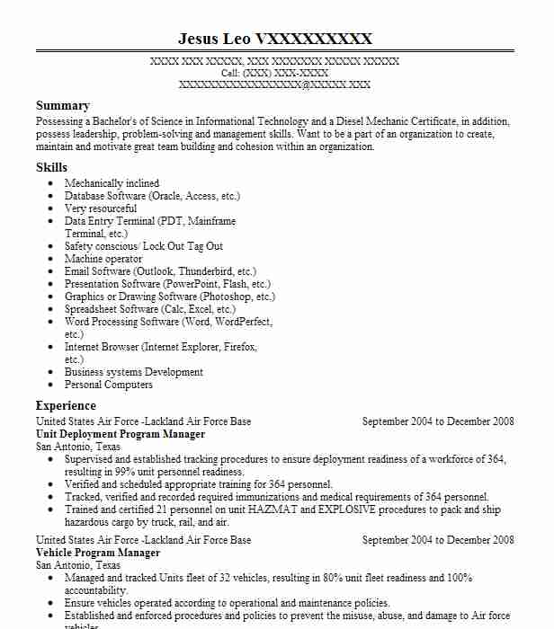 deployment manager project resume example company name township new dental assistant Resume Deployment Manager Resume