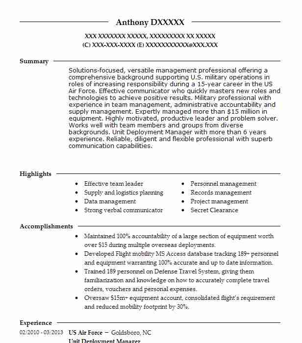 deployment manager project resume example company name township new finance director Resume Deployment Manager Resume
