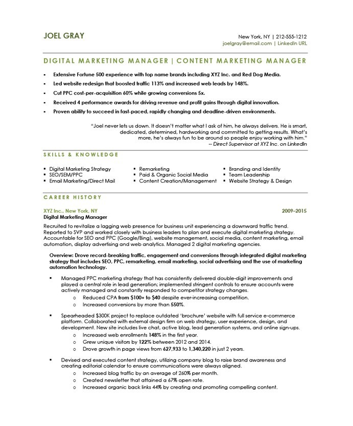 digital marketing manager free resume samples blue sky resumes email joel after examples Resume Email Marketing Manager Resume
