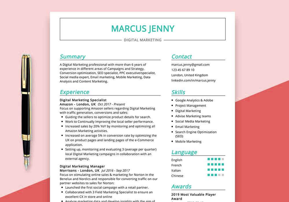 digital marketing resume example maxresumes examples sample best affordable writing Resume Marketing Resume Examples 2020