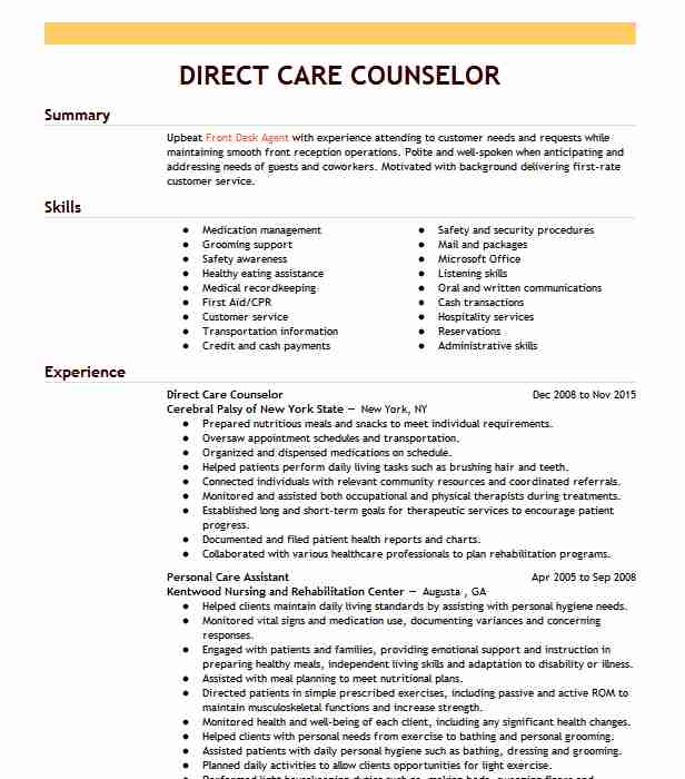 direct care counselor resume example resumes livecareer job description vs abstract Resume Direct Care Counselor Job Description Resume